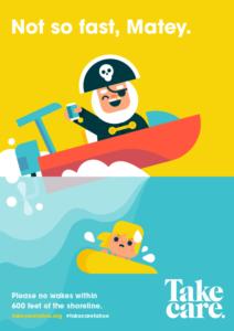 cartoon pirate on boat